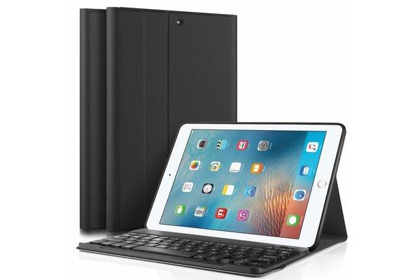 iPadspullekes.nl iPad 2017 hoes met afneembaar toetsenbord zwart