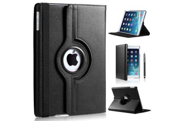 iPadspullekes.nl iPad 2018 hoes 360 graden zwart leer