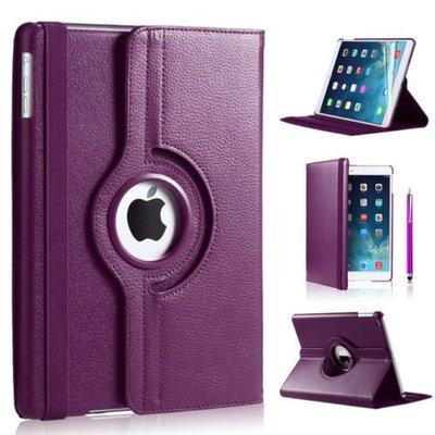 iPadspullekes.nl iPad 2018 hoes 360 graden paars leer