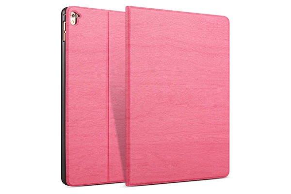 iPadspullekes.nl iPad hoes 2018 Design donker roze hout print