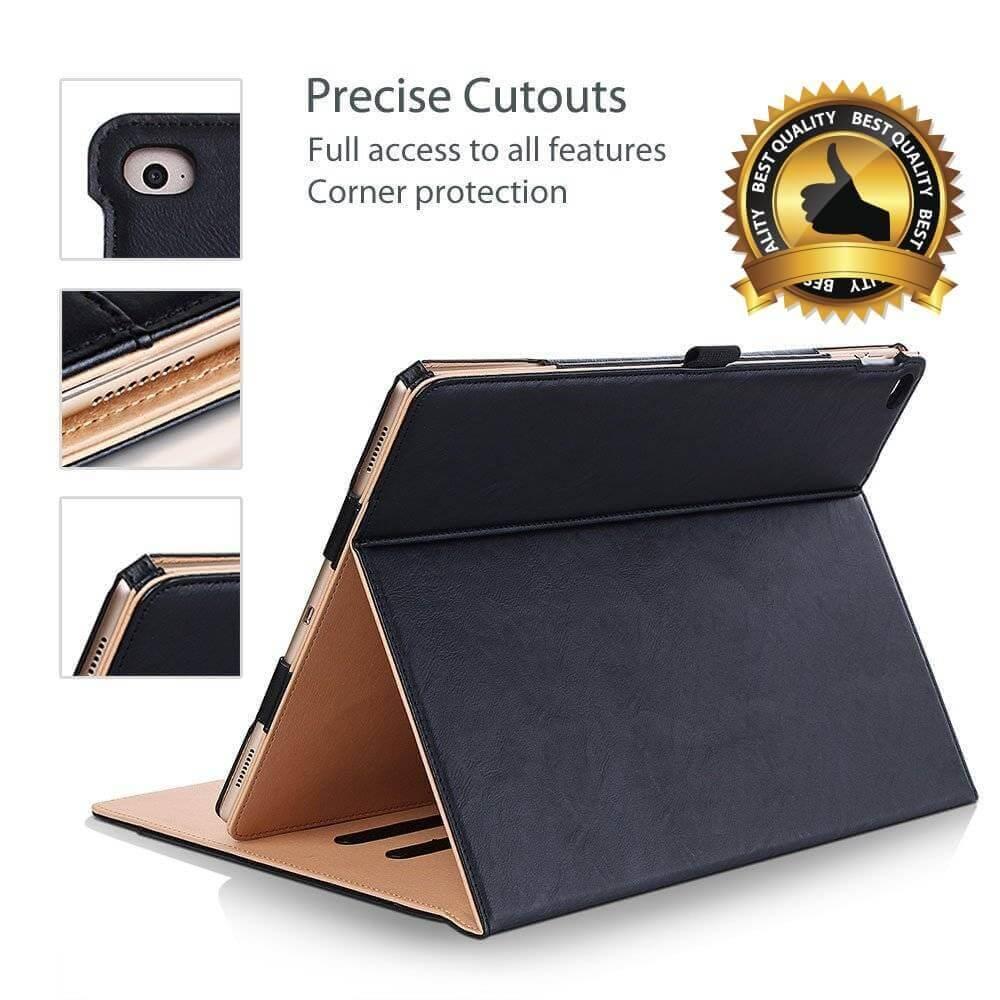 iPad hoes luxe leer bruin zwart