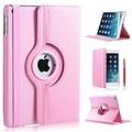 iPadspullekes.nl iPad Mini 4 hoes 360 graden leer licht roze