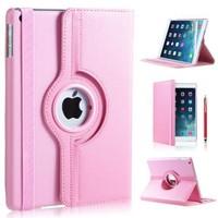 iPad Mini 4 hoes 360 graden leer licht roze