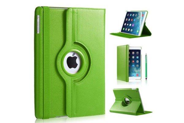 iPadspullekes.nl iPad hoes 360 graden groen leer