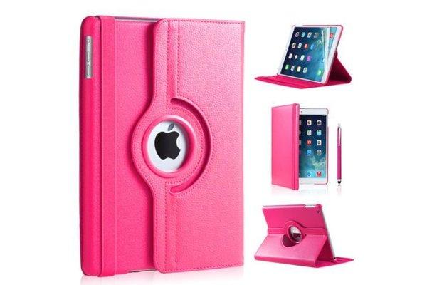 iPadspullekes.nl iPad hoes 360 graden roze leer