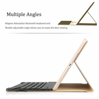 iPadspullekes.nl iPad hoes met afneembaar toetsenbord goud