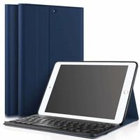 iPadspullekes.nl iPad 2018 hoes met afneembaar toetsenbord blauw