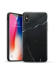 ESR iPhone X hoes Marmer zwart wit zacht TPU