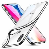 ESR iPhone X hoesje ultradun galvanische Zilver zijkant zacht TPU