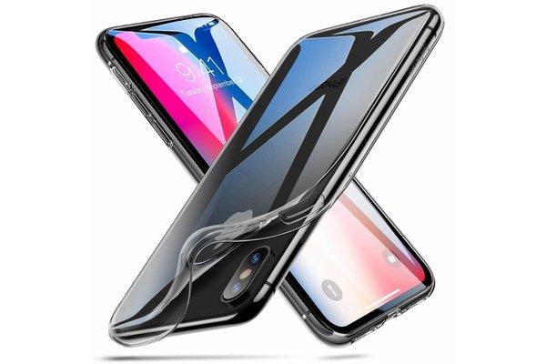 ESR iPhone X hoesje ultra dunne Zwart zacht TPU