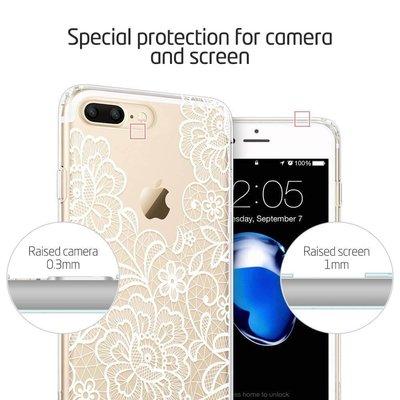 ESR iPhone 8 Plus hoes mandala Ibiza wit zacht TPU