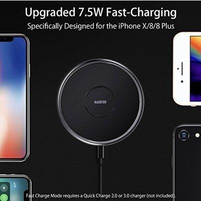 ESR Draadloze oplader Apple iPhone X zwart
