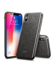 ESR iPhone X hoes zwarte glitters chique design zacht TPU
