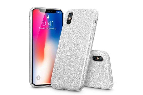 ESR iPhone 7 hoes glitter zilver chique design zacht TPU