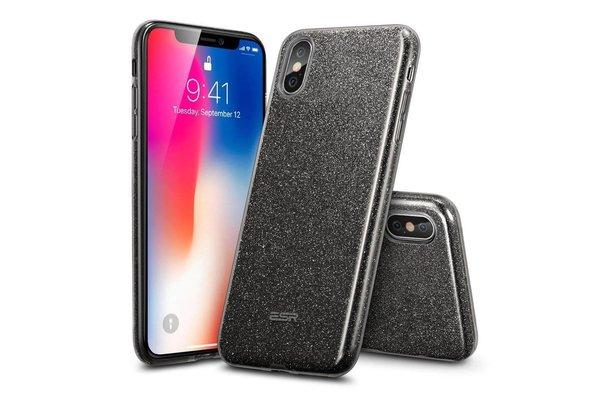 ESR iPhone 7 hoes zwarte glitters chique design zacht TPU