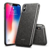 ESR iPhone 8 hoes zwarte glitters chique design zacht TPU