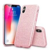 ESR iPhone 8 hoes roze glitters chique design zacht TPU