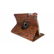 iPadspullekes.nl iPad mini 360 graden hoes Trendy leer bruin