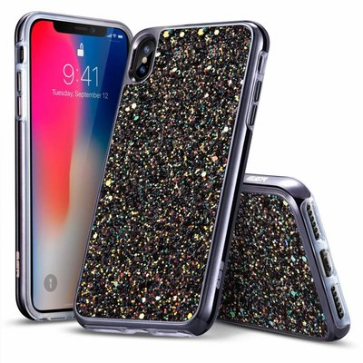 ESR iPhone 8 Plus hoes zwarte glinsters chique design zacht