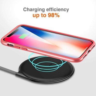 ESR iPhone 8 bumper met transparant achterkant roze goud