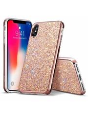 ESR iPhone X hoes roze glinsters chique design zacht