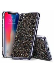 ESR iPhone X hoes zwarte glinsters chique design zacht