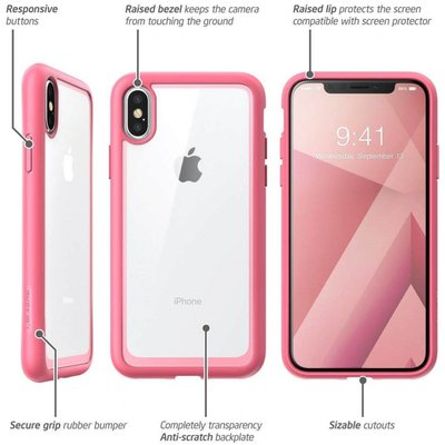 i-Blason I-Blason iPhone X Bumper Case roze ✔Gratis verzending