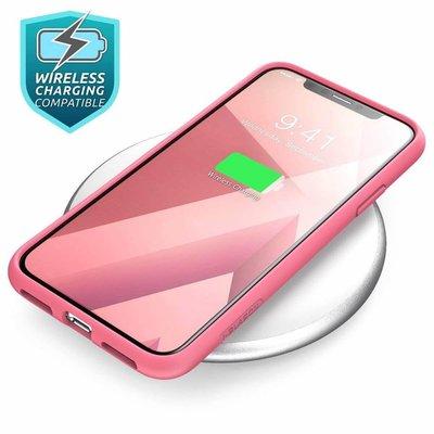 i-Blason I-Blason iPhone X Bumper Case Roze Camouflage