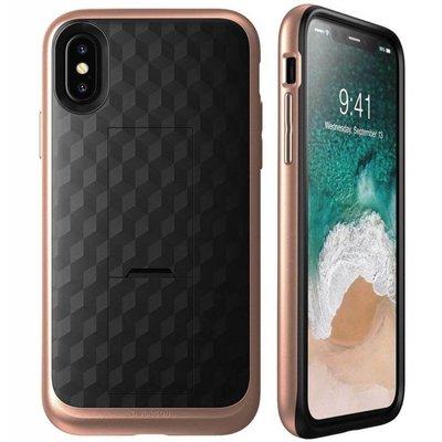 i-Blason iPhone X hoes extra bescherming met holster Roze Goud