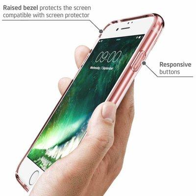 i-Blason I-Blason iPhone 7 Plus  Bumper Case transparant / roze goud