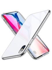 ESR iPhone XS hoes met transparante glazen achterkant