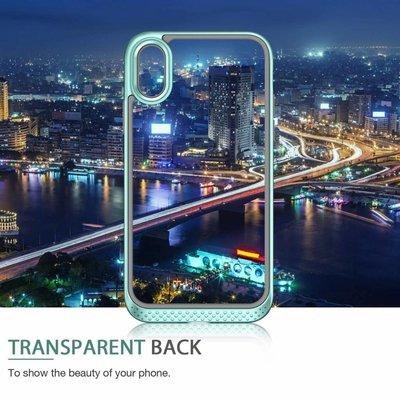 ESR iPhone XS Max bumper met transparant achterkant mintgroen