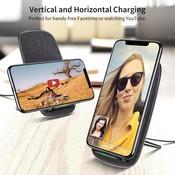 ESR Draadloze oplader voor iPhone XS Qi Donker Grijs
