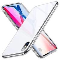 ESR iPhone XS hoes met witte glazen achterkant