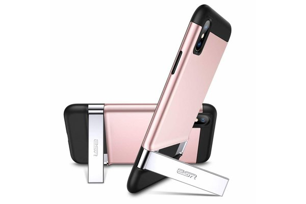 ESR iPhone XS robuuste hoes met standaard roze