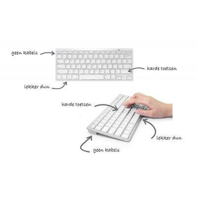iPadspullekes.nl iPad draadloos bluetooth toetsenbord wit