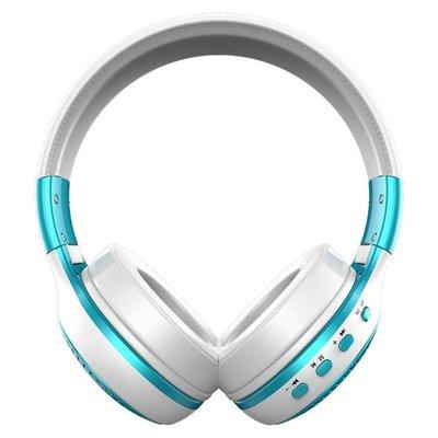 Zealot Draadloze koptelefoon met microfoon blauw\wit B19