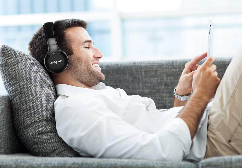 Draadloze koptelefoons met microfoon ideaal voor FaceTime, Skype en Games