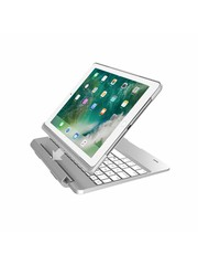 iPadspullekes.nl iPad 2018 toetsenbord met afneembare case zilver