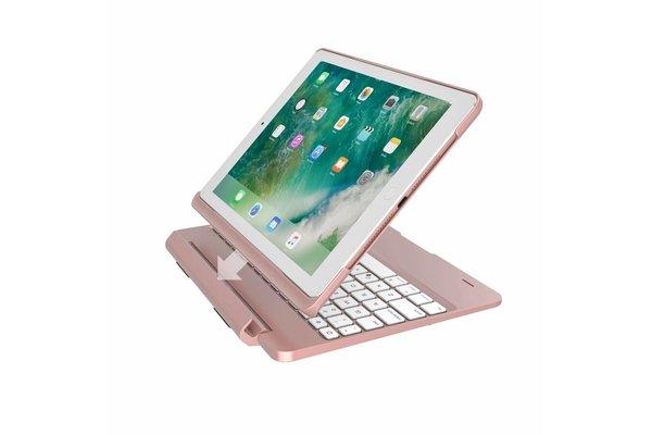 iPadspullekes.nl iPad 2018 toetsenbord met afneembare case roze
