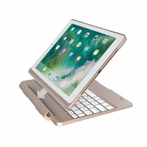 iPadspullekes.nl iPad 2018 toetsenbord met afneembare case goud