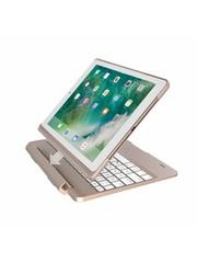 iPadspullekes.nl iPad 2017 toetsenbord met afneembare case goud