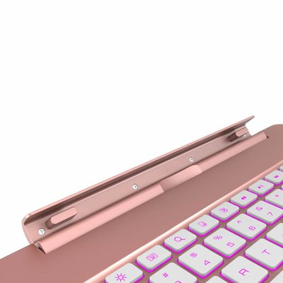 iPadspullekes.nl iPad Air toetsenbord met afneembare case roze