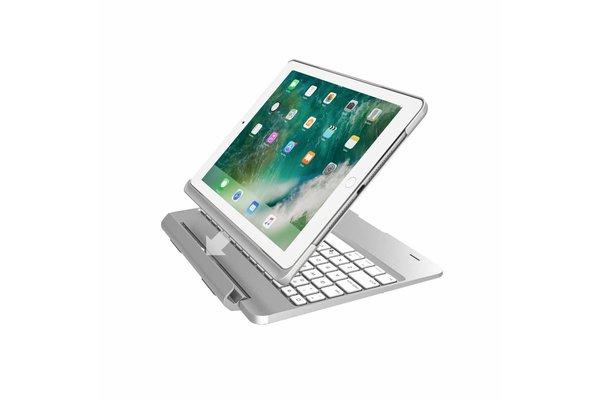 iPadspullekes.nl iPad Pro 9.7 toetsenbord met afneembare case zilver