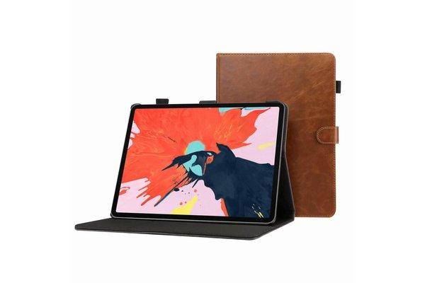 iPadspullekes.nl iPad hoes 2018 luxe leer licht bruin