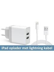iPadspullekes.nl Oplader met Lightning kabel (iPad 2017/2018, 2019/2020 10.2 , Pro 9.7/10.5, 12.9 (2015/2017), Air 1/2)