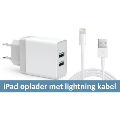 iPadspullekes.nl iPad oplader met kabel voor iPad 2018/17, Pro 12.9, Pro 10.5, Pro 9.7, Air, Air 2, 4