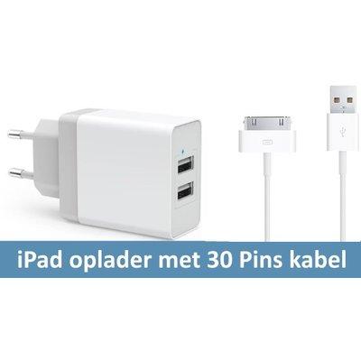 iPadspullekes.nl iPad oplader met kabel  voor iPad 1, 2 , 3 (grote aansluiting)