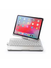 iPadspullekes.nl iPad Pro 11 toetsenbord draaibare case zilver