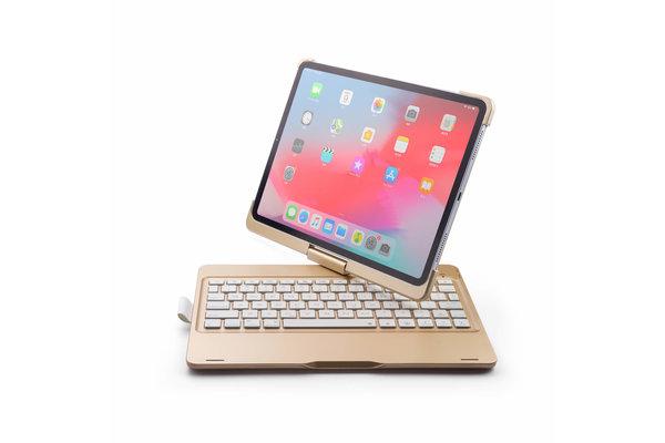 iPadspullekes.nl iPad Pro 11 toetsenbord draaibare case goud